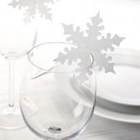 Shimmering Snowflake - White Place Cards (10)